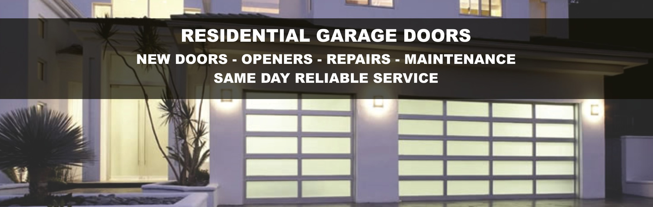 Garage door repairs sunshine garage doors for Residential garage door repair